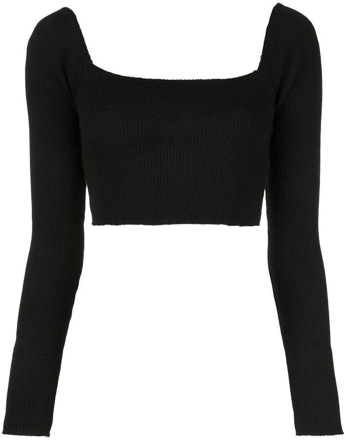 CALLIPYGIAN ribbed cropped top