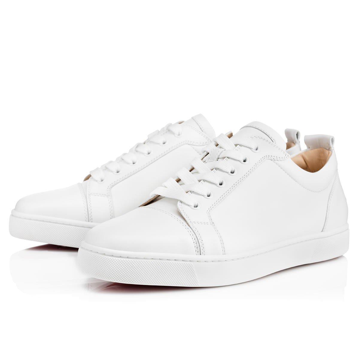 Louis Junior Men's Flat White Leather - Men Shoes - Christian Louboutin