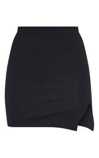 Jemmia Black Split Mini Skirt | PrettyLittleThing USA