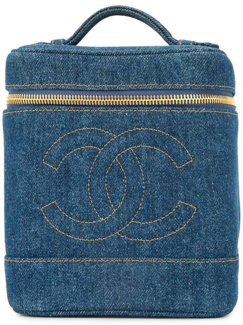 Chanel Pre-Owned denim CC cosmetic vanity bag $3,935 - Buy Online VINTAGE - Quick Shipping, Price