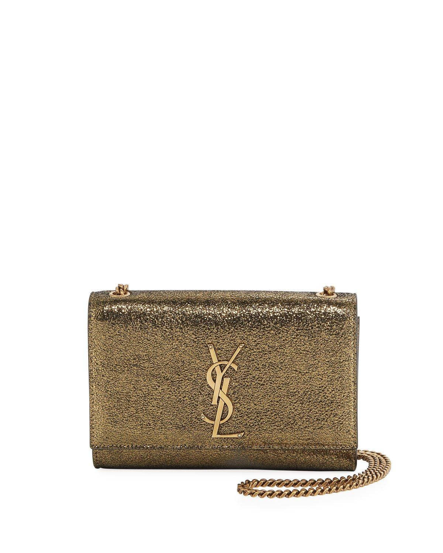saint laurent shoulder bag gold metallic