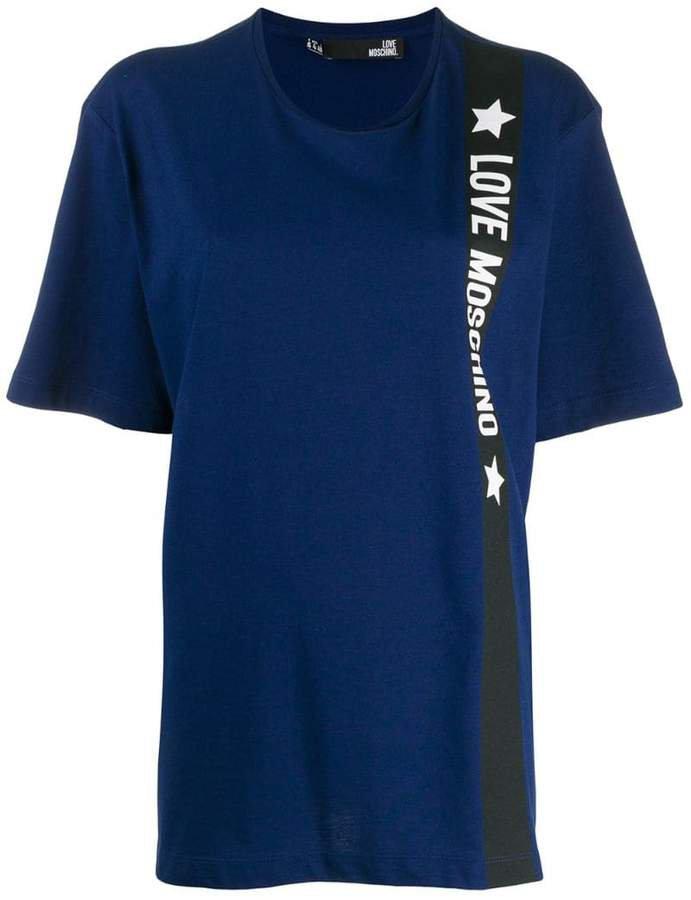 oversized logo stripe T-shirt