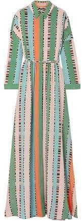 Printed Silk Crepe De Chine Maxi Dress