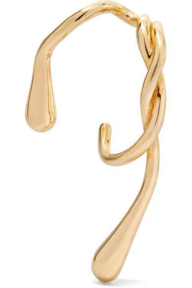 Anne Manns | Eila gold-plated earring | NET-A-PORTER.COM
