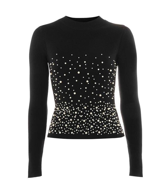 black rhinestone sweater