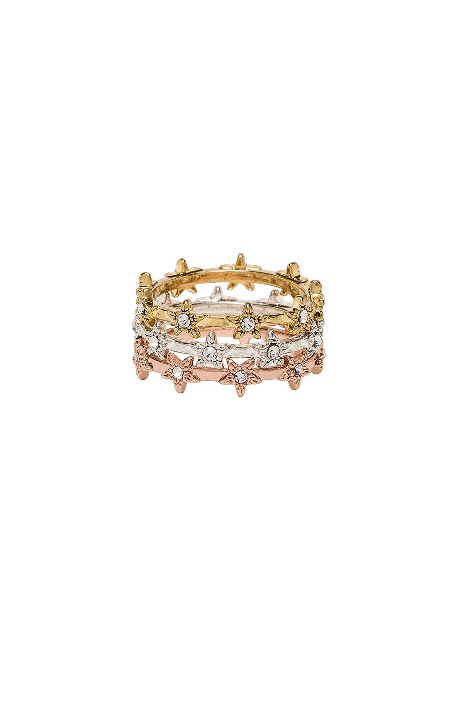 The Pave Star Ring Set