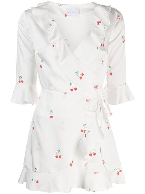 Chiara Ferragni Cherry Wrap Mini Dress - Farfetch