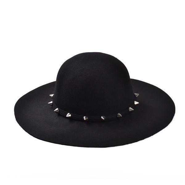 Gothic Wiccan Studded Brim Hat – ROCK 'N DOLL