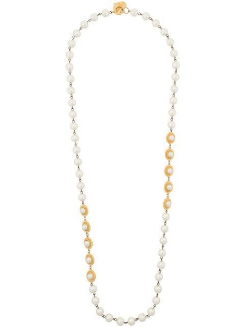 Moschino Pre-Owned faux pearls long necklace $246 - Buy Online VINTAGE - Quick Shipping, Price