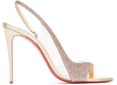 Optisling 100 Glittered Strap Sandals - Womens - Gold