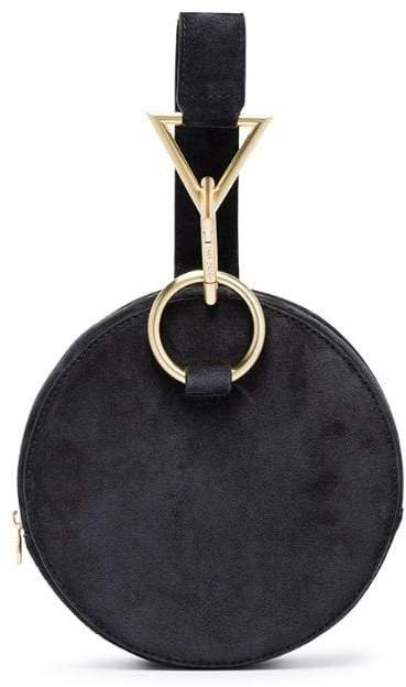 Black Azar suede bracelet bag