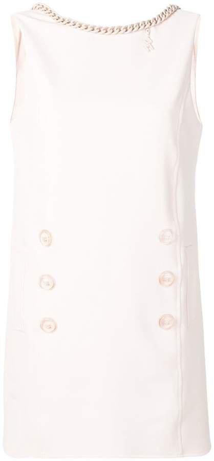 chain neck dress