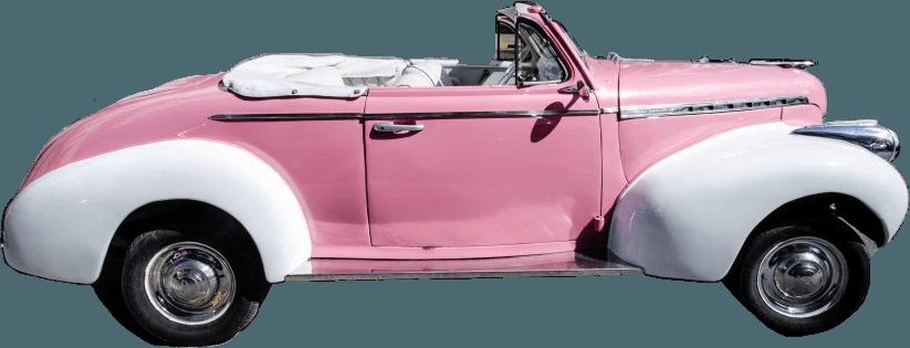 car retro pink pinkcar retrocar aesthetic pinkaesthetic...