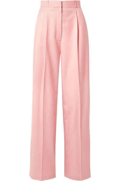 The Row | Elin wool-twill wide-leg pants | NET-A-PORTER.COM