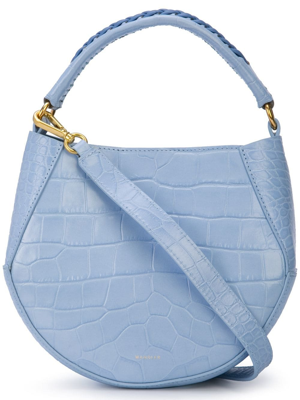 "Wandler ""Corsa"" Mini Tote Bag In Light Blue Leather 