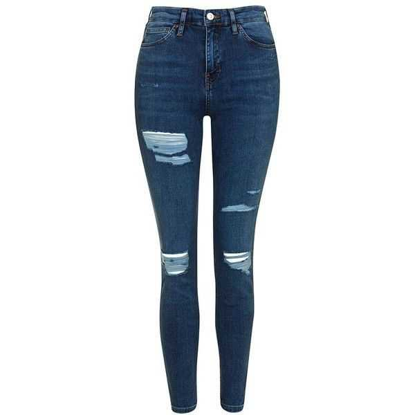 Topshop ripped jamie jeans