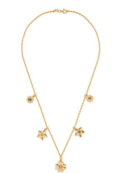 Meadowlark | Maiden gold-plated, tourmaline and citrine necklace | NET-A-PORTER.COM