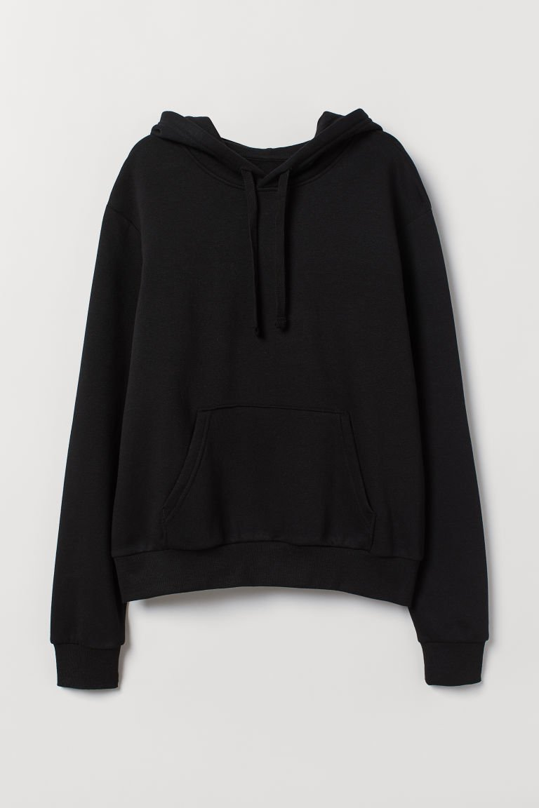 Hooded Sweatshirt with Motif - Black - | H&M US