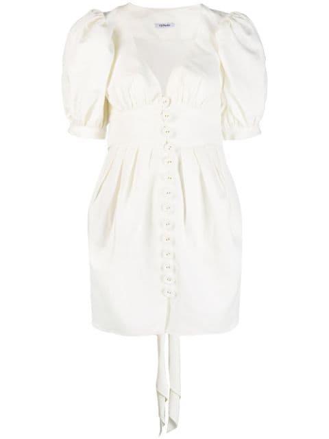 PARLOR Parlor Puff Sleeve Mini Dress - White white