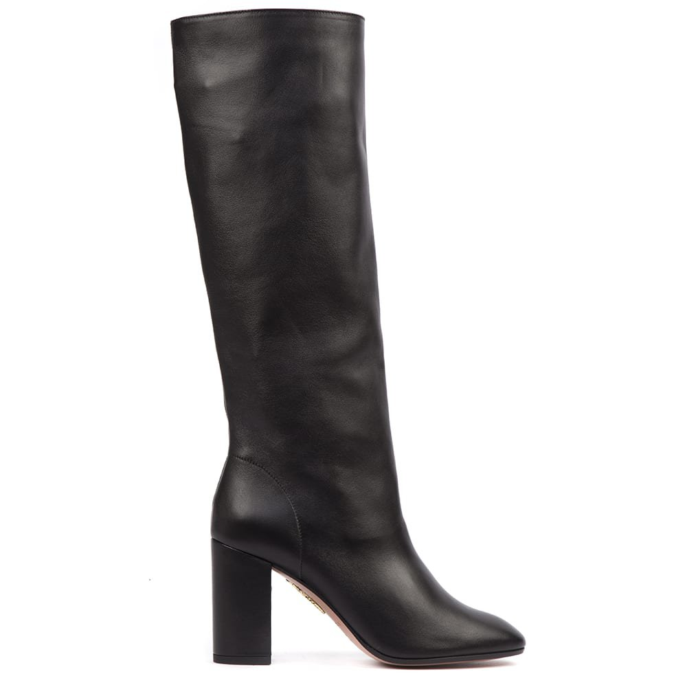 Aquazzura Black Nappa Leather Boogie Boots