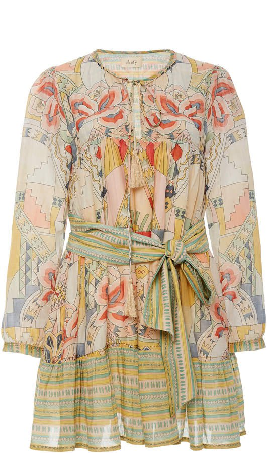 Chufy Kuka Printed Cotton-Blend Dress Size: S