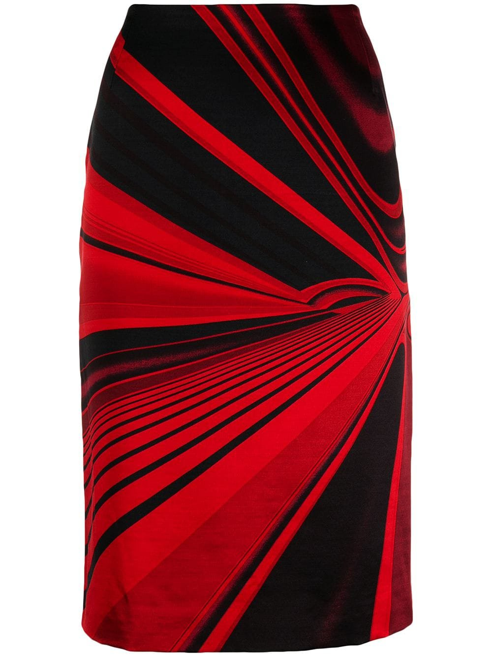 Versace '90 Abstract Vector Printed Skirt
