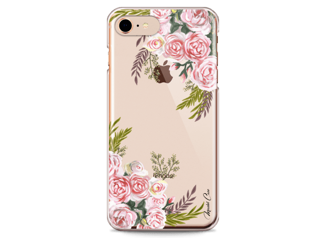 Coque iPhone 7/iPhone 8 Pink Flowers Painted | Master Case