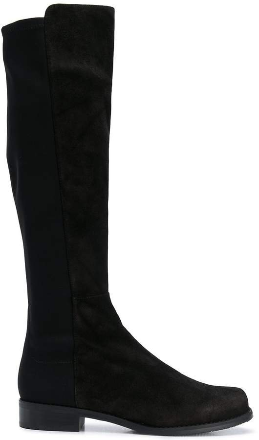 HalfNHalf knee-high boots