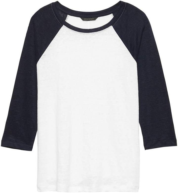 Linen Baseball T-Shirt