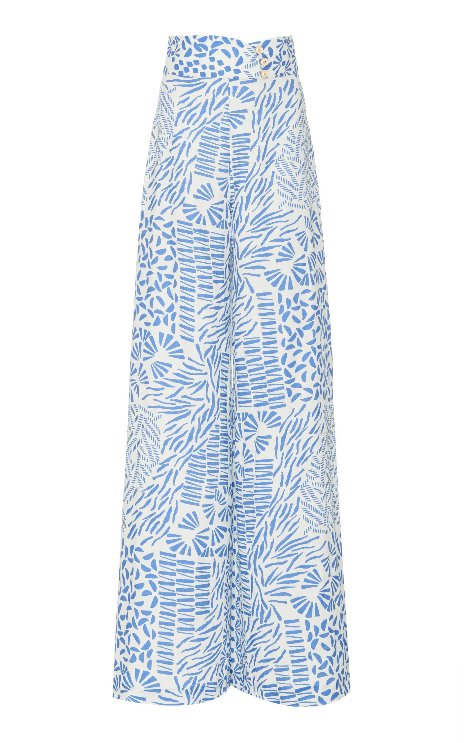 Alexis Neassa High Waisted Cotton Flare Pant Size: L