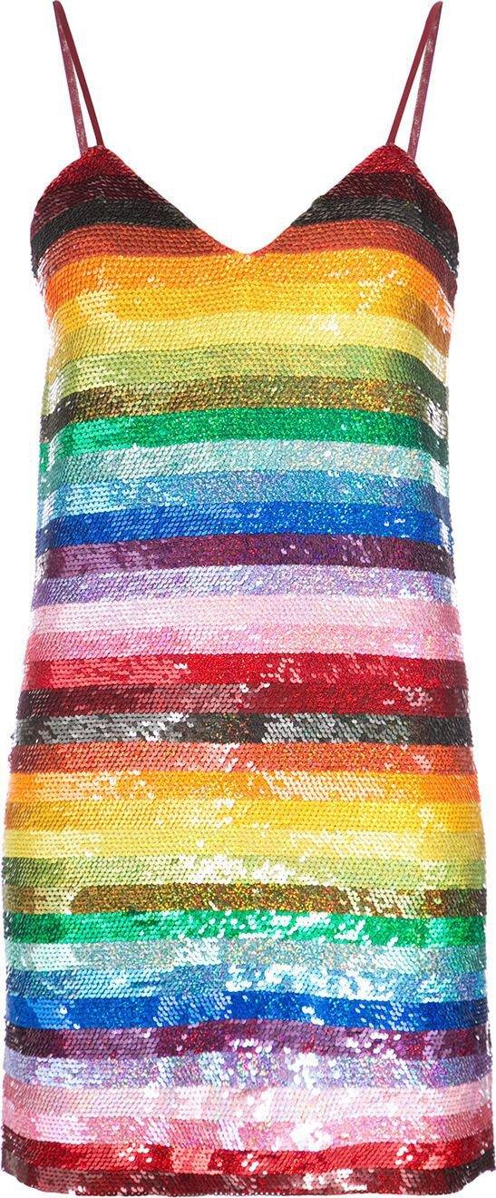 ASHISH - Sequinned Rainbow Dress