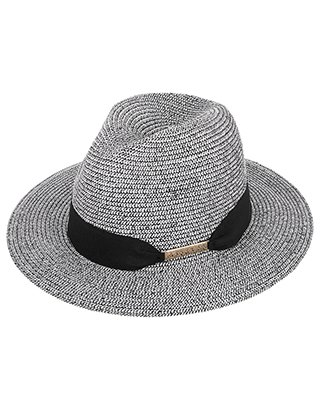 Mono Stripe Chic Braid Fedora Hat | Multi | Medium/Large | 5911579062 | Accessorize