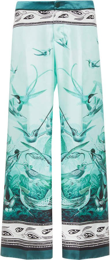 For Restless Sleepers Ceo Printed Silk Cropped Pants Size: S