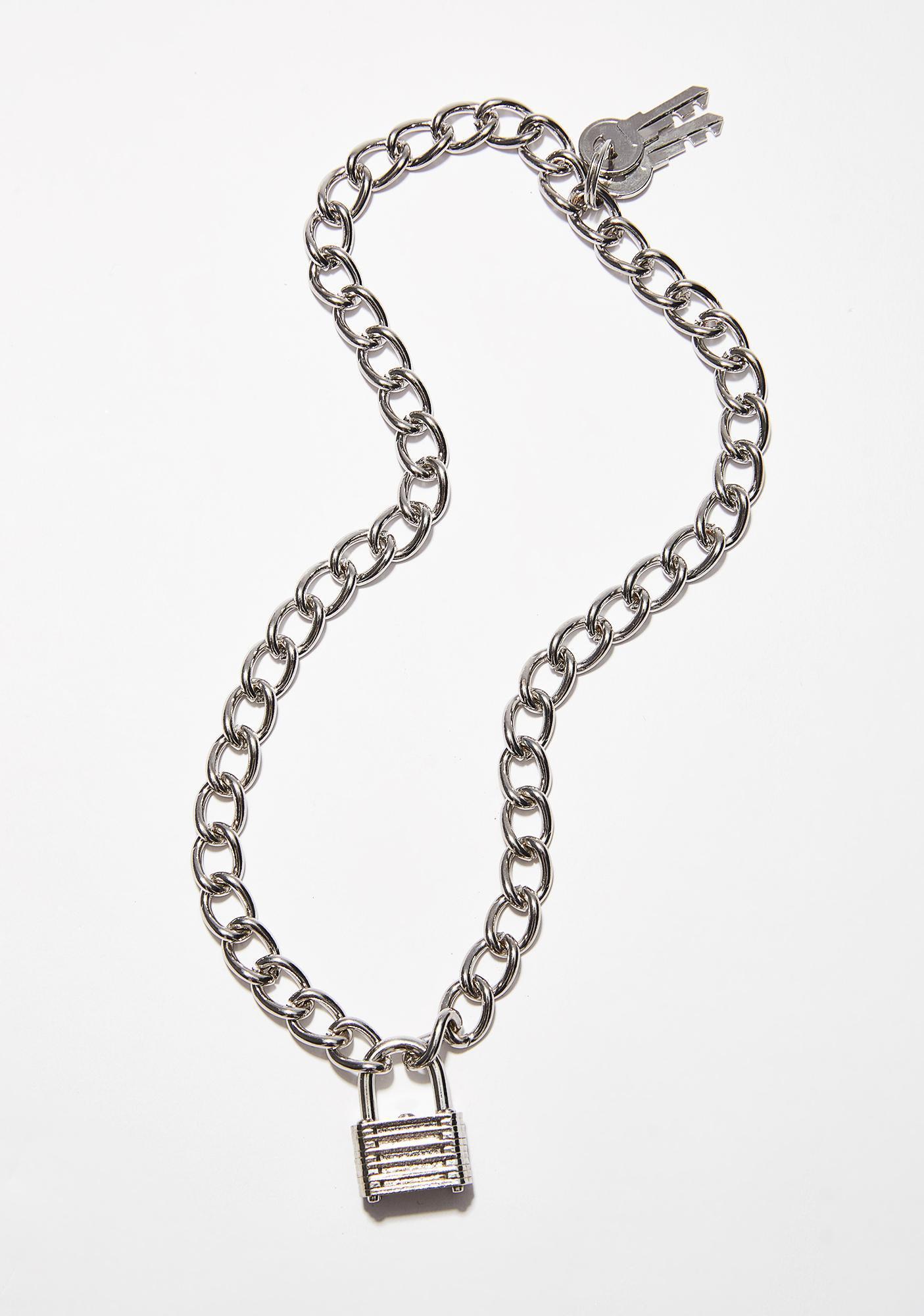 Locked Down Chain Necklace | Dolls Kill