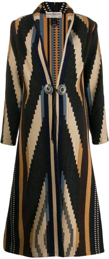 Jessie Western engraved button coat