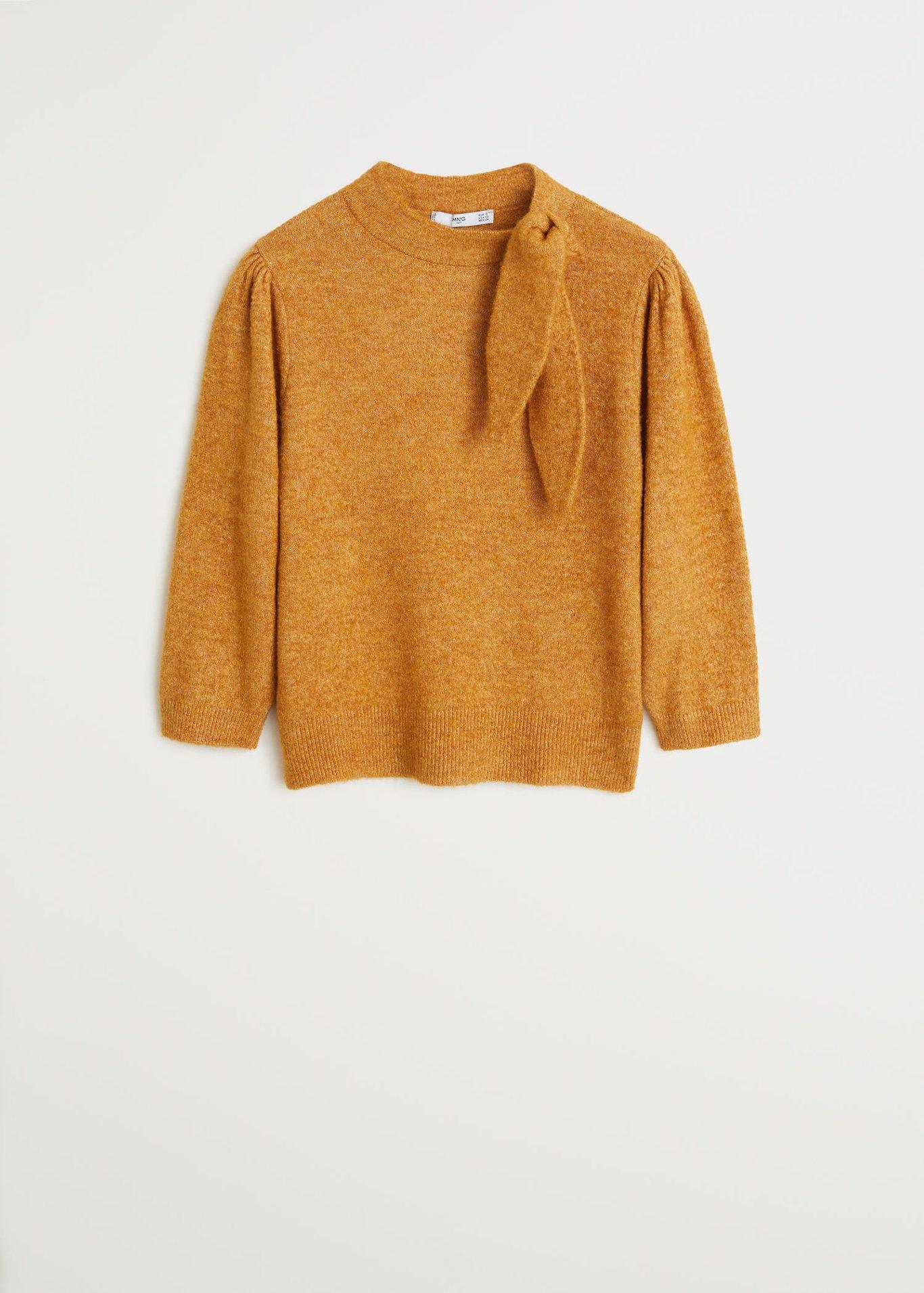 Bow knit sweater - Women | Mango United Kingdom