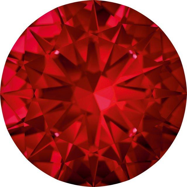 1.4mm Round Machine-cut Swarovski Top Red Ruby | Stuller
