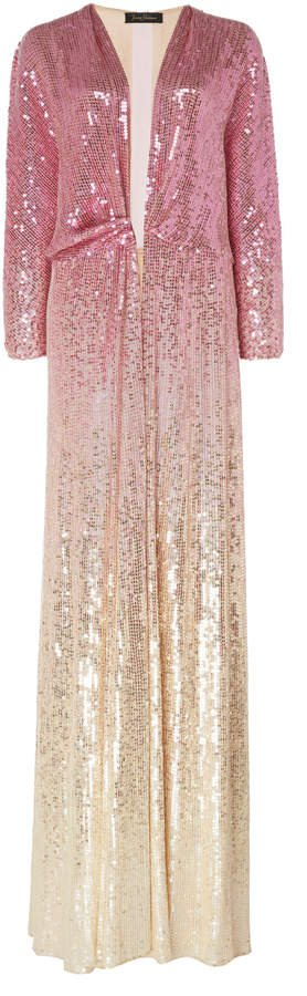 Gina Ombre Sequined Chiffon Dress