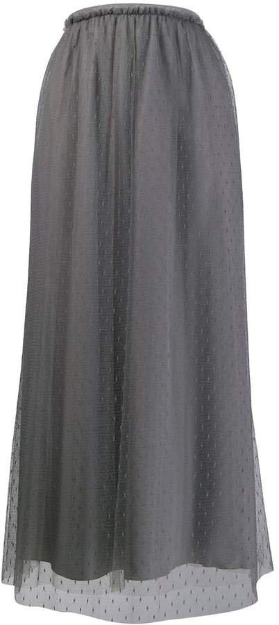 tulle layered long skirt