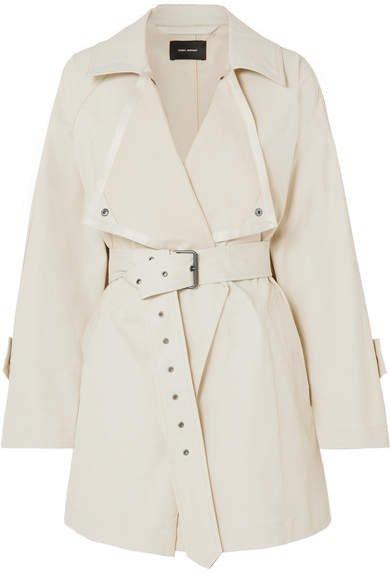 Jamelo Belted Cotton-blend Gabardine Trench Coat - Ecru
