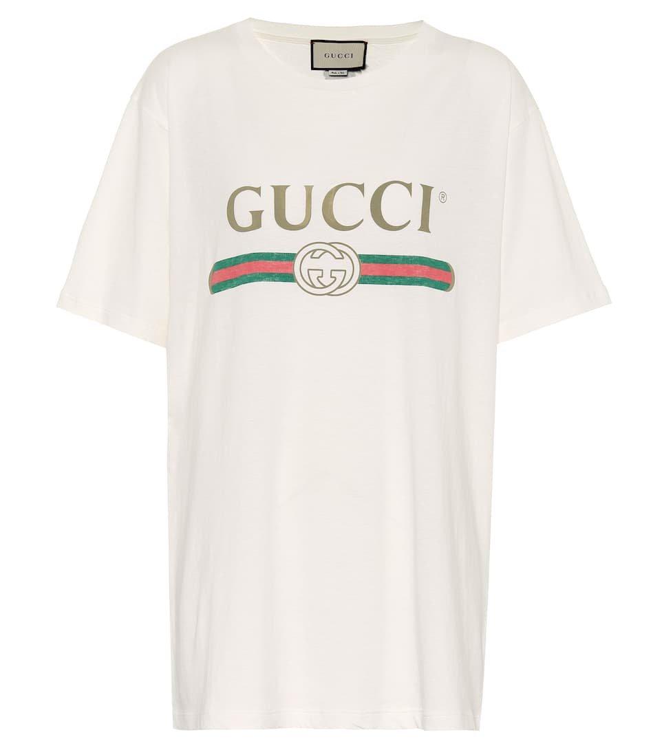 Gucci - Printed cotton T-shirt | Mytheresa