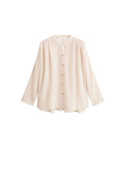 MANGO Buttoned flowy blouse