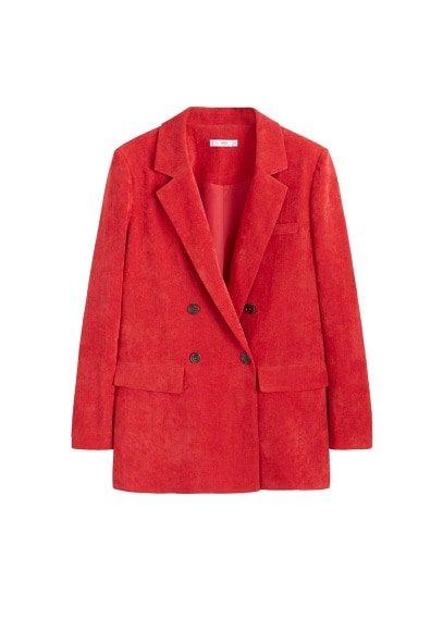 MANGO Micro corduroy structured blazer