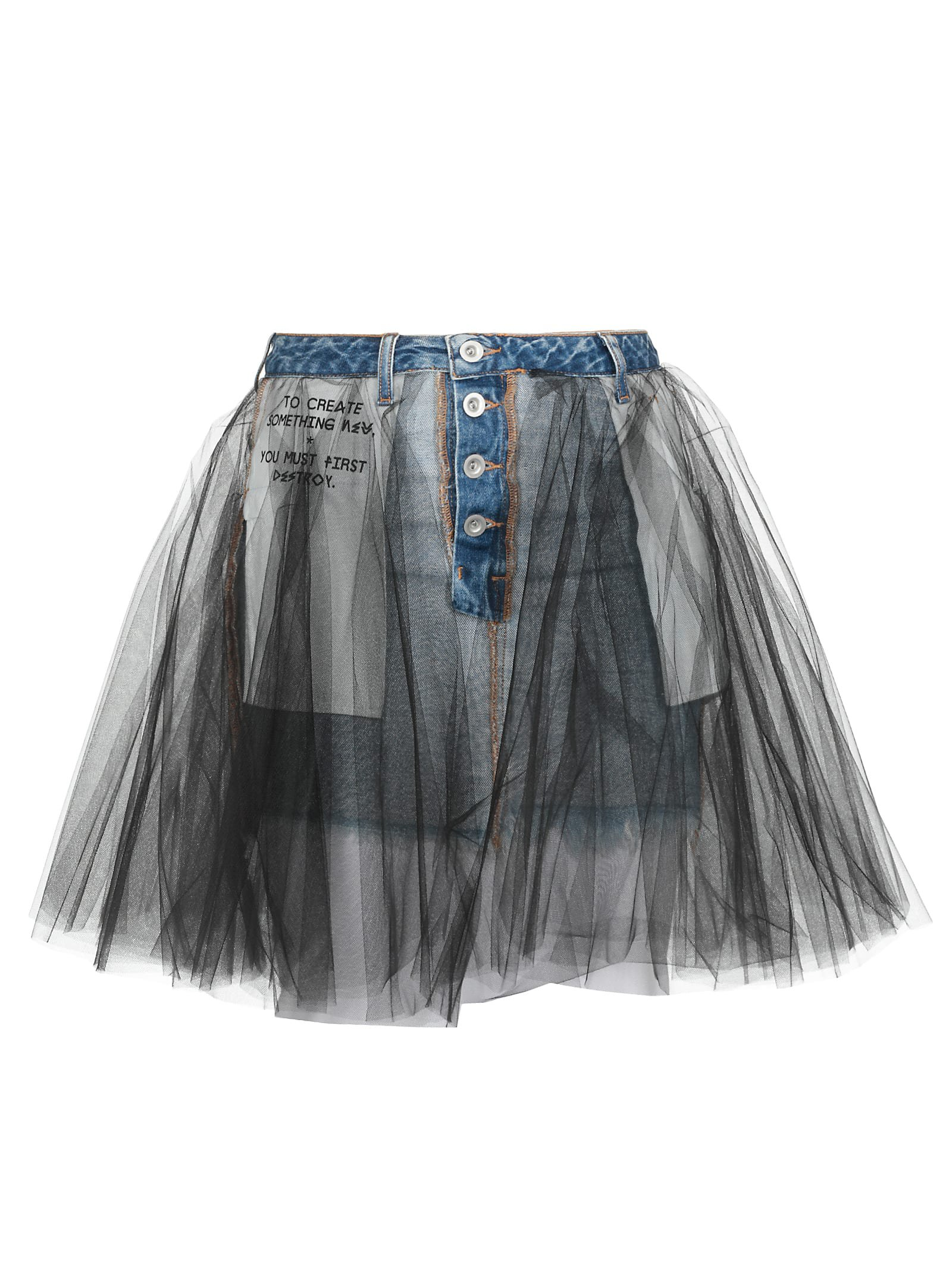 Ben Taverniti Unravel Project Mini Skirt
