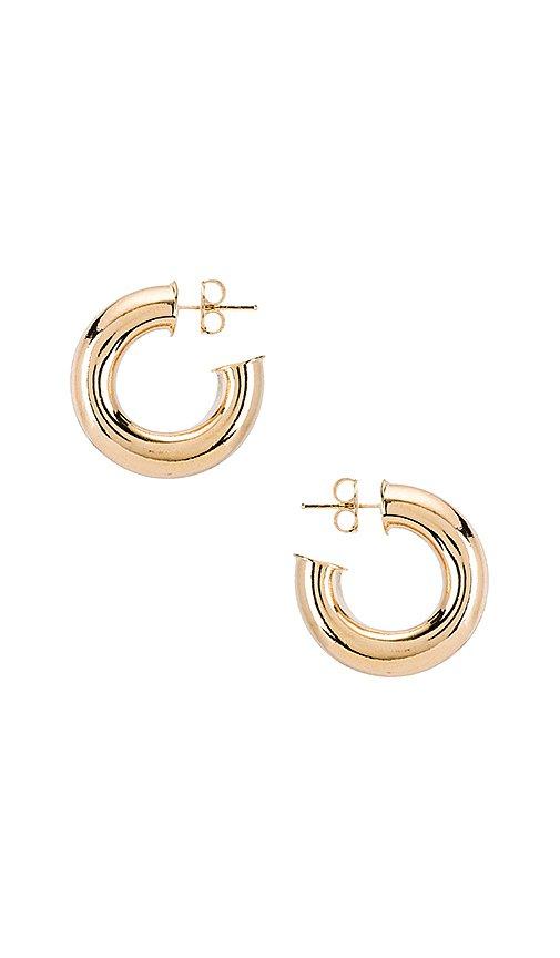 joolz by Martha Calvo Donut Hoop Earrings in Gold | REVOLVE