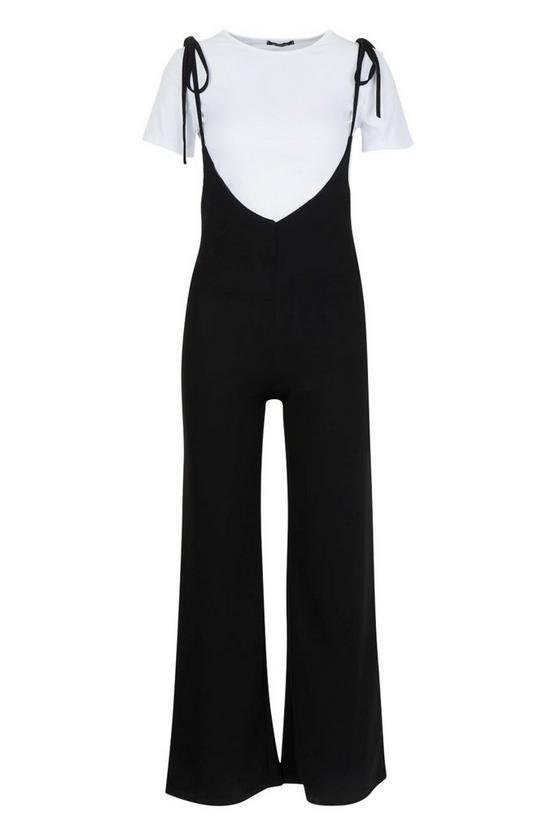T-Shirt Under Layer Wide Leg Jumpsuit | Boohoo