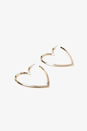 Charm Fringe Hoop Drop Earrings | Forever 21