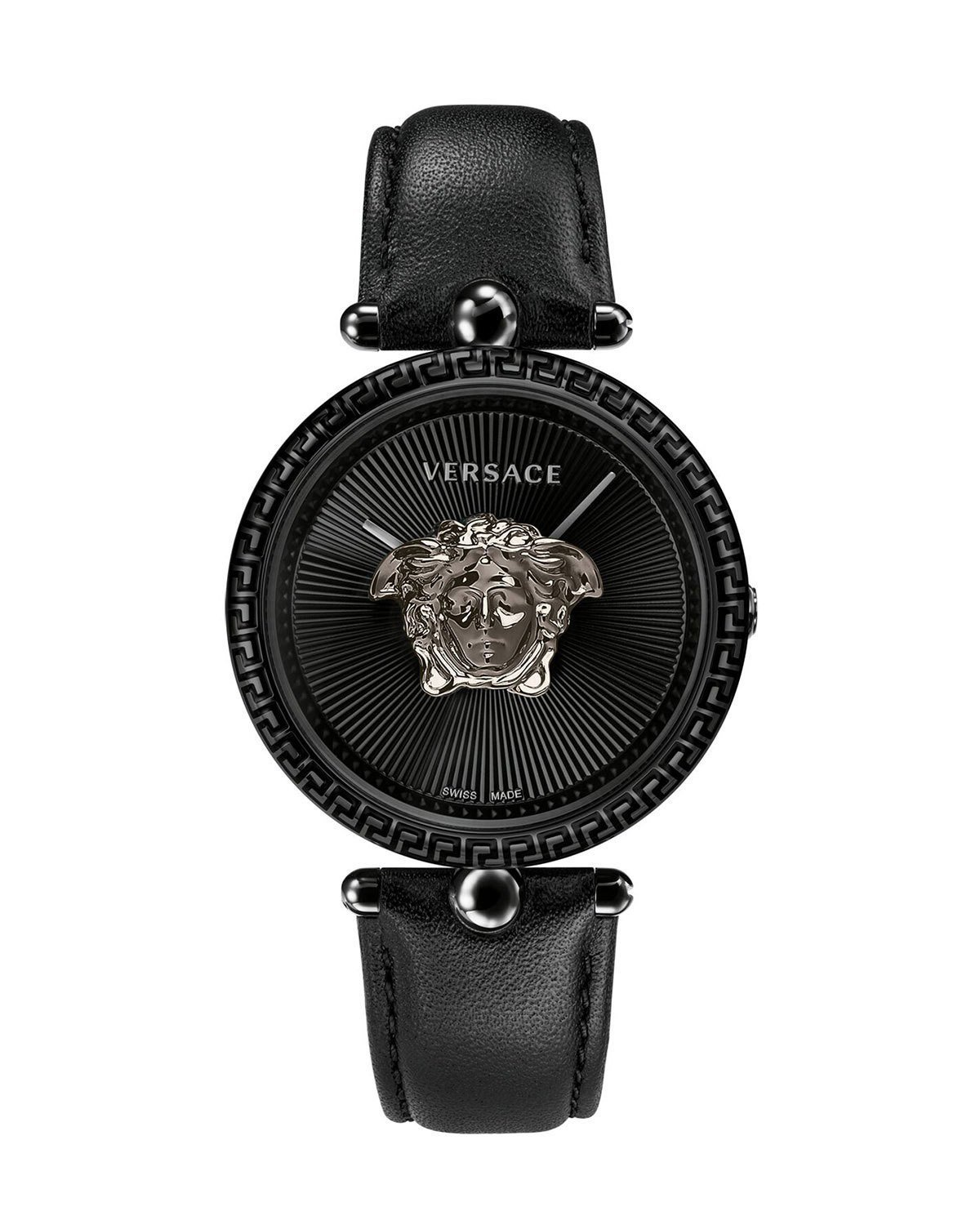 Versace 39mm Palazzo Empire Watch, Black | Neiman Marcus