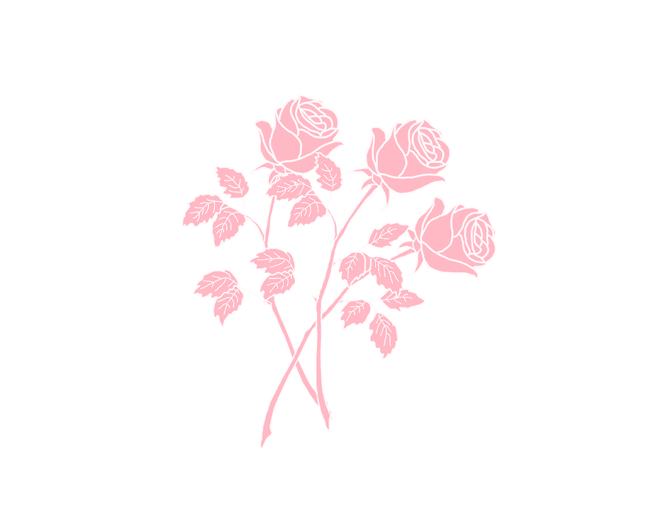 pink rose graphic