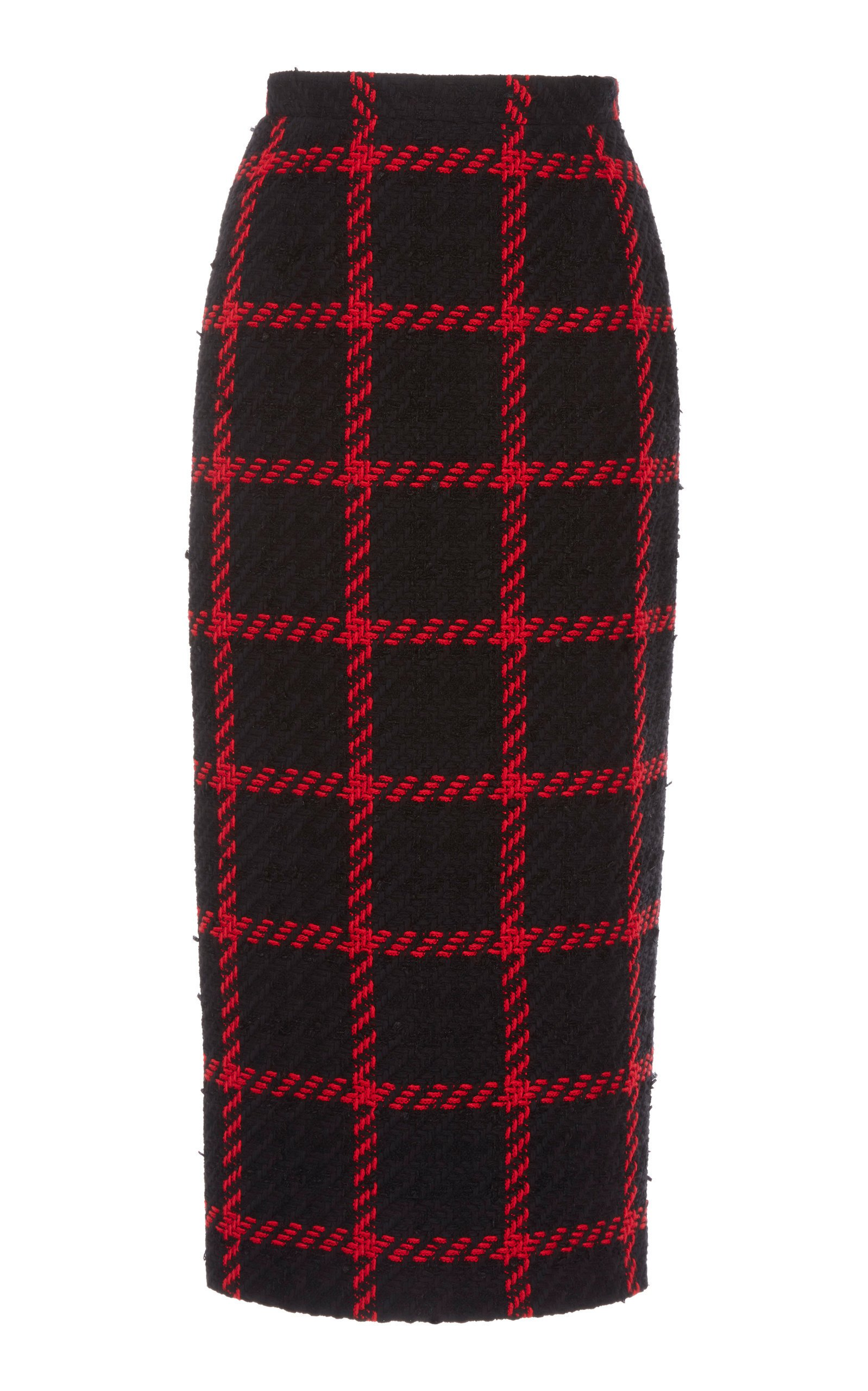 Alessandra Rich Checked Tweed Skirt Size: 42
